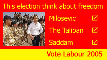 Think about freedom - Vote Labour